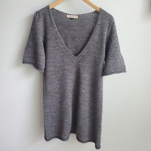See by Chloe gray v-neck wool blend sweater 6